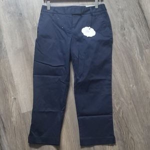 Charter Club Navy Blue Capris New